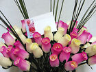 FREE MOTHERS DAY GIFT CARD IVORY HOT PINK CERISE WOODEN ROSES GRASSES WHOLESALE