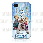 DISNEY FROZEN Olaf Anna Snow Man ♥ for Iphone 4 / 4s / 5 Black  White Hard Case