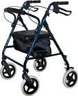 "7.5"" 4-WHELIGHTWEIGHT ALUMINUM ROLLING FOLDING WALKER ROLLATOR WITH NYLON BAG"