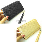 For Huawei myTouch Q 2 II 4G U8730 Silk Design PU Wallet Leather Case Pouch