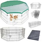 DOG PUPPY RABBIT FOWL BIRDS CHICKEN GUINEA PIG PET PLAY PEN RUN SILVER / BLACK