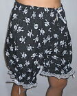 BLOOMERS SKULL GOTHIC SISSY TROUSERS BURLESQUE LOUNGE PANTS FANCY DRESS