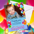 Personalised Kids Birthday Thank You cards with your photo added! Boy or Girl