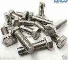 M5 / 5mm A2 STAINLESS STEEL HEX HEXAGON HEAD SET SCREW BOLTS FULLY THREADED