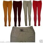 NEW LADIES WOMEN SKINNY COLOURED SUMMER JEGGINGS STRETCHY JEANS TROUSERS 6-14