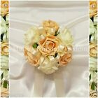 WEDDING FLOWERS GIRL BRIDESMAID BOUQUET POSY FOAM ROSES CHAMPAGNE +OTHER COLOURS