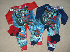 BOYS MARVEL SPIDERMAN RED OR  BLUE ALL IN ONE PYJAMA SLEEPSUIT  ONESIE  GIFT SET