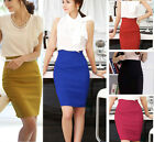 New Womens Fitted Business Knee Lady Slimming High Waist OL Office Pencil Skirt