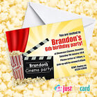 Personalised Kids Cinema Party Invites - Movie Party, Film Night Party