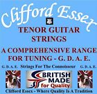CLIFFORD ESSEX TENOR GUITAR STRINGS. GDAE TUNING. HEAVY GAUGES. MADE IN BRITAIN.