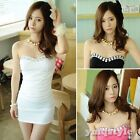 New Womens Off-Shoulder Sexy Sequin Clubwear Cocktail Strapless Tube Dress Mini