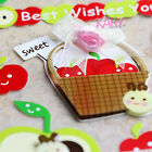 Phone Scrapbooking Handmade Rhinestone 3D Stickers Fruit Basket Food Bug WSSK002