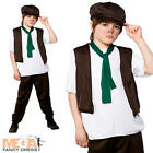 Victorian Poor Boy Fancy Dress Up Oliver Twist Kids Childrens Outfit + Hat 3-10