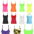 Girls Neon UV Fluorescent Vest Tops 80s Dance Tutu Fancy Dress10 Colours 5-12Yrs