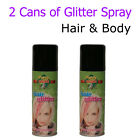 Glitter Spray Temporary Colour Party Hair Body Dance Stage Wash Out Artificial