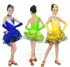 NEW Princess Cha Cha Tango Salsa Ballroom Latin Dance Dress Child Girl Dancewear