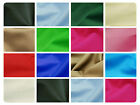 "100% Cotton Canvas Fabric - Plain Solid Colours Material - 57"" (146cm) wide"
