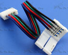 Bulk 4 Pin 10MM LED RGB 5050 Strip Connectors With Line PCB Connector Adapter