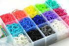 600 X LOOM RUBBER BANDS BRACELET MAKING 24 X S CLIPS TOOL TWISTZ BANDZ COLOURFUL