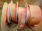VINTAGE  FRENCH RIBBON WIRE OMBRE 1yd PEACHY PEACH Made in France (4 sizes)