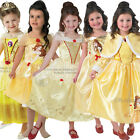 Childs Disney Beauty Belle Classic Princess Kids Fancy Dress New Costume & Wig