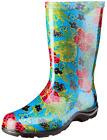 SLOGGERS WOMEN'S GARDEN MIDSUMMER BLUE TALL WATERPROOF BOOT