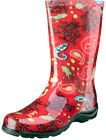 SLOGGERS WOMEN'S GARDEN RED PAISLEY TALL WATERPROOF BOOT