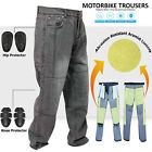 14oz Denim Motorcycle Motorbike Trousers Jeans With Protection Lining D.Wash