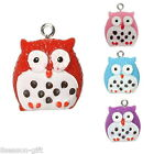 30PCs Owl Pendants Dotted Pattern
