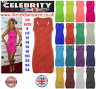 New Ladies Long Racer Back Bodycon Muscle Vest Womens Dress Top UK Size 8-22
