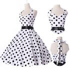 Vogue Polka Dots 50s Housewife Swing pinup Vintage Evening Prom Dress