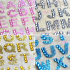 Alphabet Color Rhinestone Scrapbooking Phone Computer Shiny Sparkle Sticker OT03