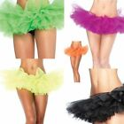 Adult Dance Tutu Petticoat Layered Organza Lace Clubwear Mini Skirt Party Dress