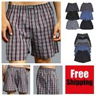 New 6 Mens Boxers Plaid Shorts Underwear Lot Cotton Briefs Pairs Pack Size S-3XL