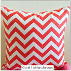 Zigzag Coral / White Chevron Home Accent Throw Pillow Cover / Case
