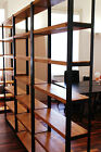 Vintage Industrial Mild Steel and Timber Shelving Unit