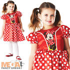 Minnie Mouse Girl's Fancy Dress Up Kids Red & White Child Disney Costume Outfit