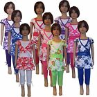 New Girls Tunic/Floral  Dress/Top&Leggings 2 Piece Set /Summer Outfit 2-12ys #68