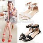 Womens Ladies Summer Trendy Open Toe Ankle Strap Sandals Shoes 3 Colors 226