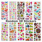Random 3D Raised Stickers Pack For Kid Girl Boy Party Scrapbook Craft Decal Gift