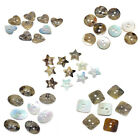 Shell Sewing Buttons Scrapbooking 2 Holes Natural M0925