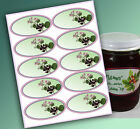 """10 Blank or Custom text 4 x 2"""" OVAL Canning LABELS Jam Jelly Syrup CHOOSE STYLES"""