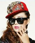 Studded Cap Hat Punk Jewelled Spike Gangsta Fashion Snapback Unisex Baseball