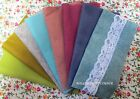 "VINTAGE FELT PACK  - 8 x 9"" OR 12"" SQUARES 30% WOOL BLEND + 2 METRES OF LACE"