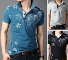 ZD76 New Summer Men's T-shirt Casual Slim Fit Short Sleeve Polo Shirt 4 Color