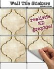 Wall Tile Stickers for Kitchen Bathroom or Shower : Moroccan Stone 001