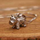 925 Sterling Silver Necklace And 3D Scottie Dog Pendant Handcrafted Silver w Box