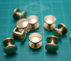 Bulk 10*6mm Leather scrapbooking binder Belt Brass Chicago Screws Nail Rivets