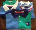 NWT New Nautica Short Sleeve Polo Shirt Color Block Boys 5 6 7 14 16 M L