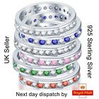 925 Sterling Silver Luxury Engagement Wedding Round Full/Half Eternity Ring Band